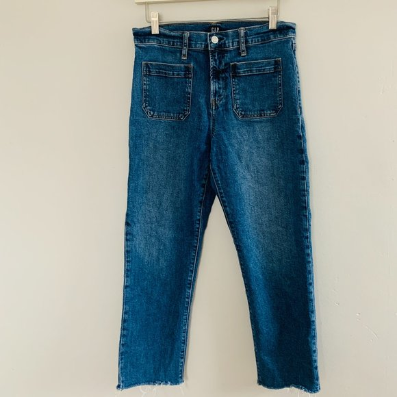 GAP Cheeky Straight High Waist Cropped Jeans
